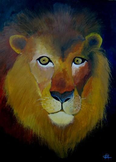 A013 Lion 50X70