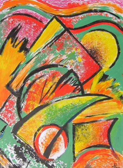 OK P048 Déferlage Pastel gras 50X70cm